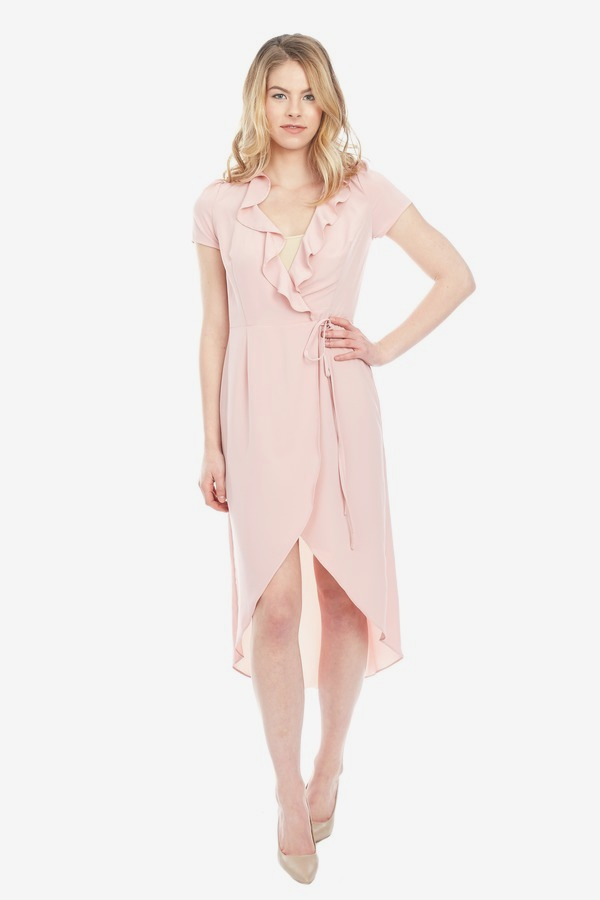 Ruffle Wrap Dress