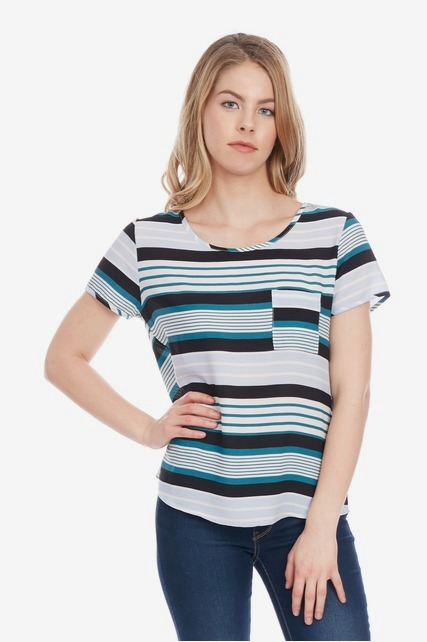 Stripe Pocket Top