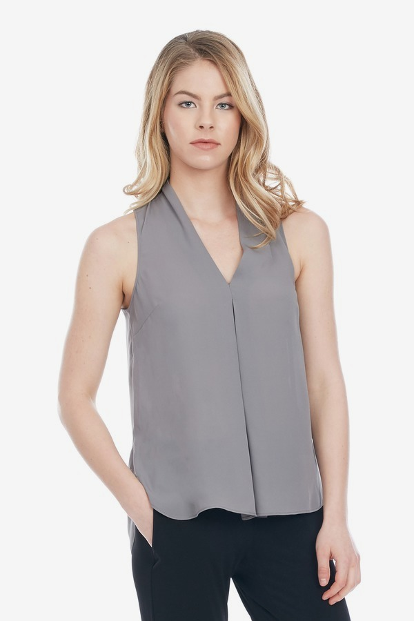 Drapey Vee Neck Top