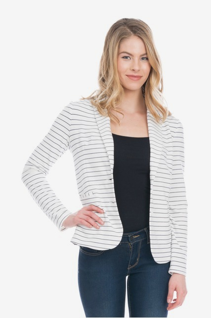 Mini Stripe Knit Blazer