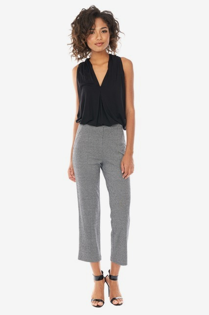 Cropped Chevron Trouser