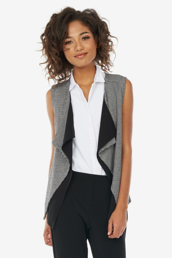 Two Tone Chevron Printed Vest