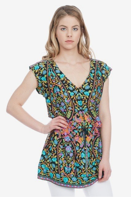Printed Drawstring Tunic