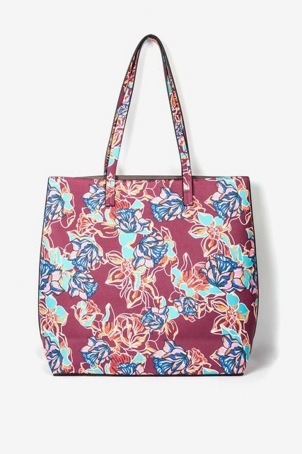 Floral North South Tote