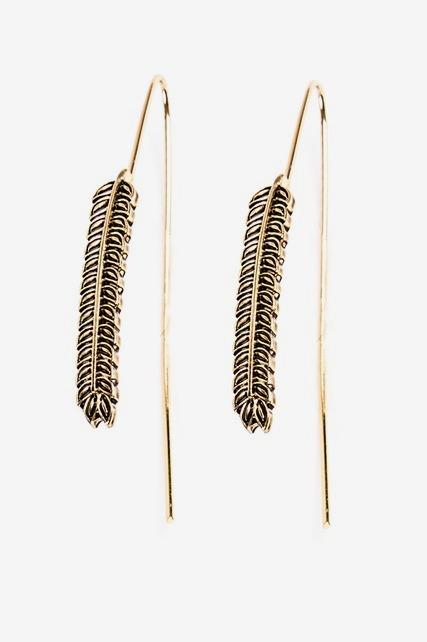 Leaf Wire Earring