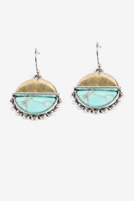 Divided Turq Earrings