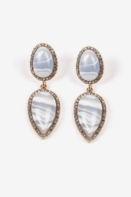 Blue Lace Agate Earring