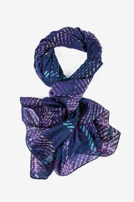 Violet Plaid Scarf