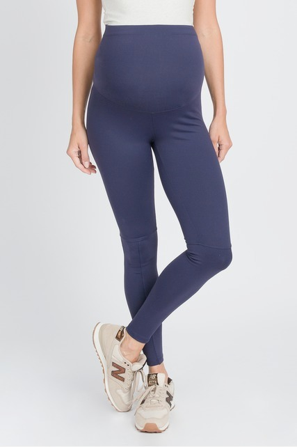 Seamed Navy Leggings