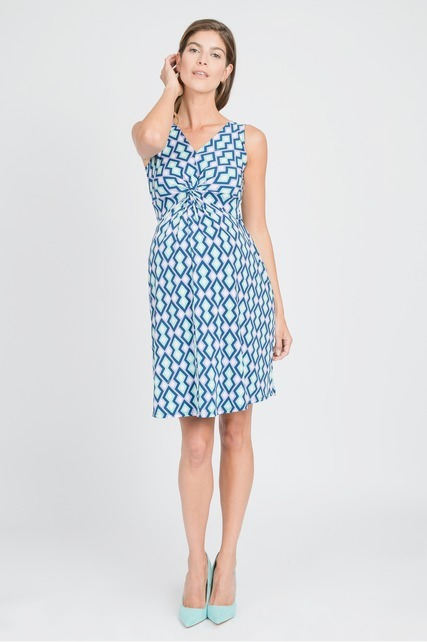 Diamond Print Knot Dress