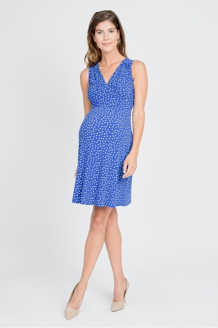 Polka Dot Vee Dress