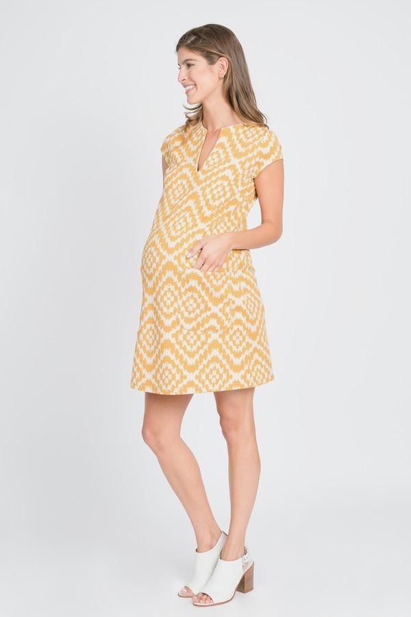 Split Neck Trapeze Dress