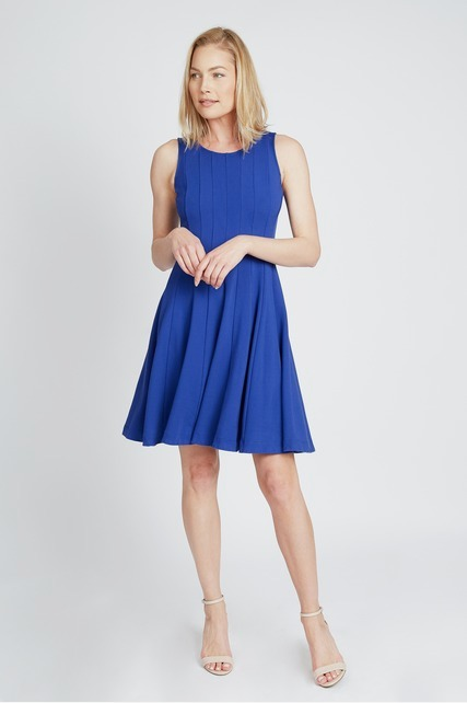 Seamed Flare Dress