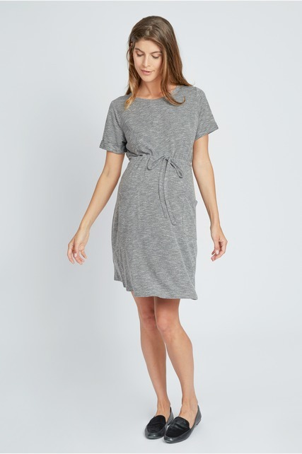 Drawstring Pocket Dress