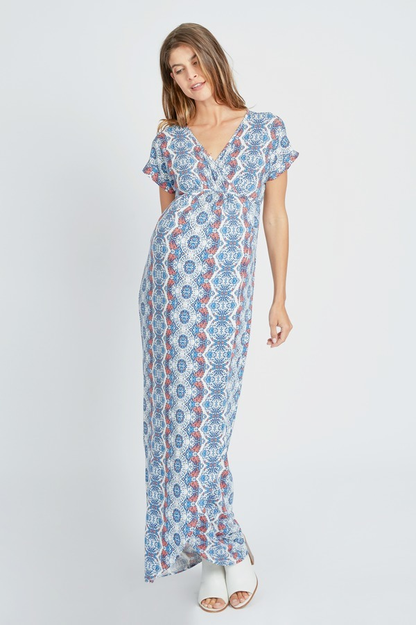 Woodblock Striped Maxi