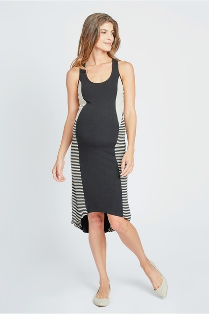 Stripe Side Panel Dress