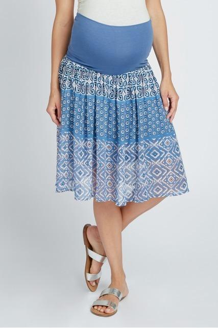 Mixed Boho Woven Skirt