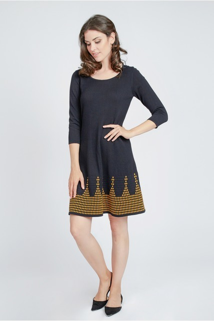 Border Print Knit Dress