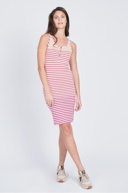 Striped Henley Dress