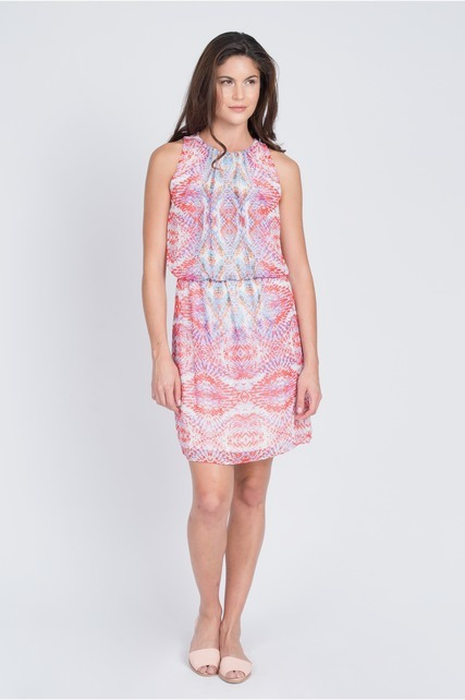 Kaleidoscope Print Dress