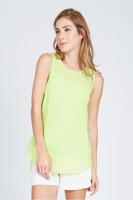 Bright Chiffon Tank Top