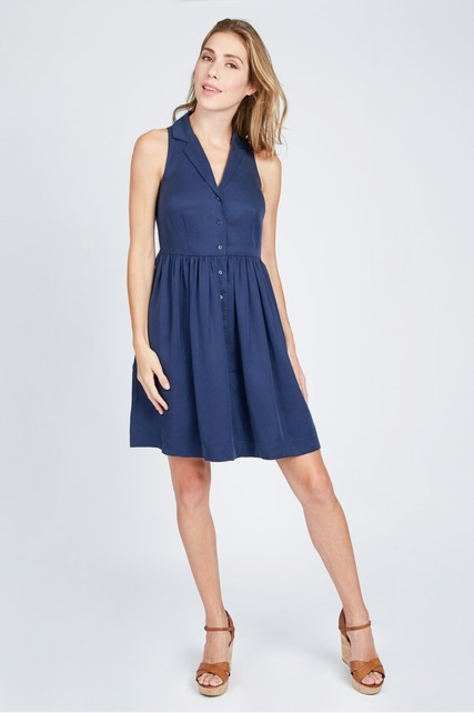 Washed Out Halter Dress