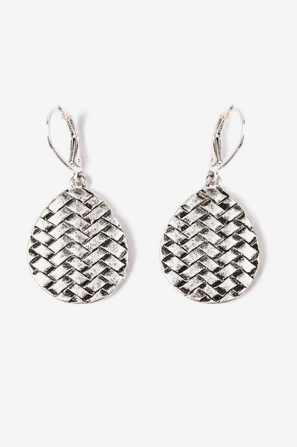 Basketweave Drop Earrings