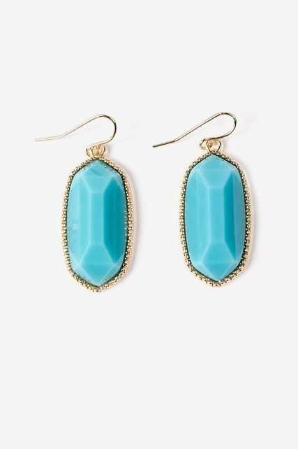 Faceted Oval Drops