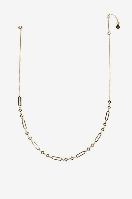 Flat Geometric Necklace