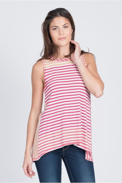 Tulip Back Striped Top
