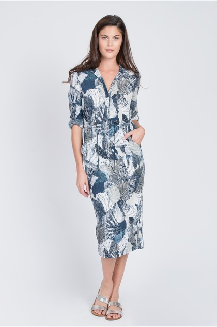 Palm Printed Dress