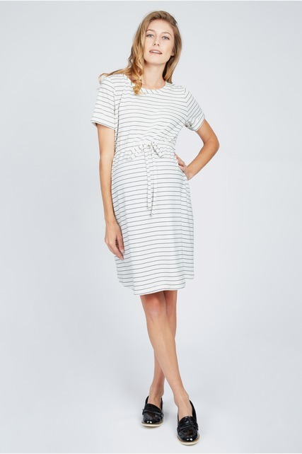 Crewneck Stripe Dress