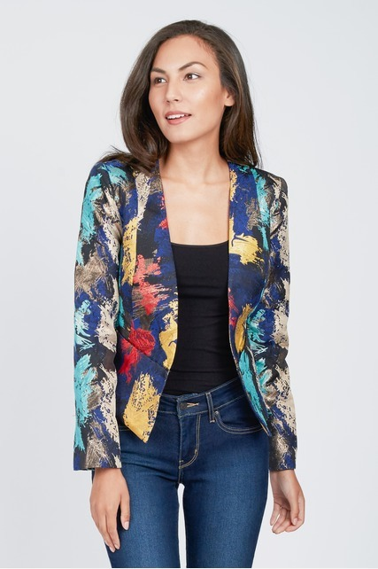 Graphic Burst Blazer