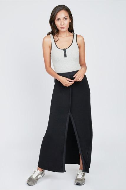 Split Front Maxi Skirt