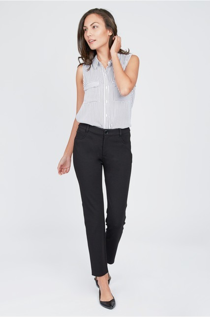 Faux Pocket Slim Pant
