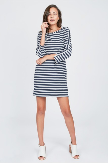 Boatneck Shift Dress