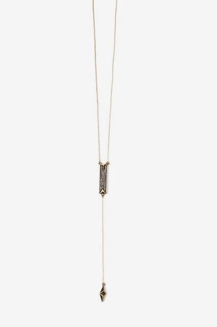 Pave Y Neck Necklace