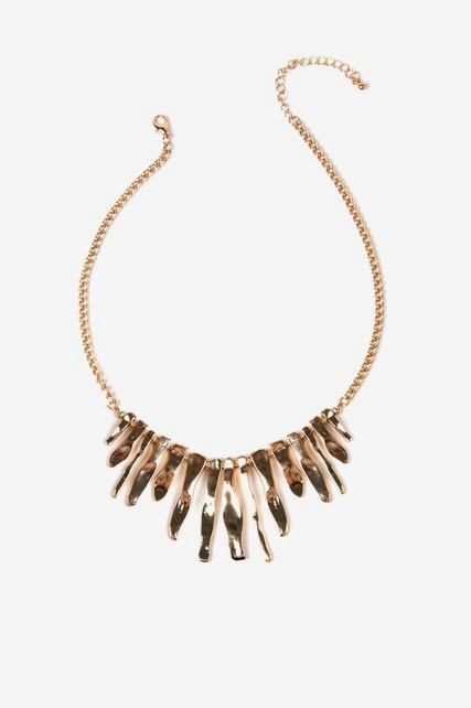 Organic Paddle Necklace