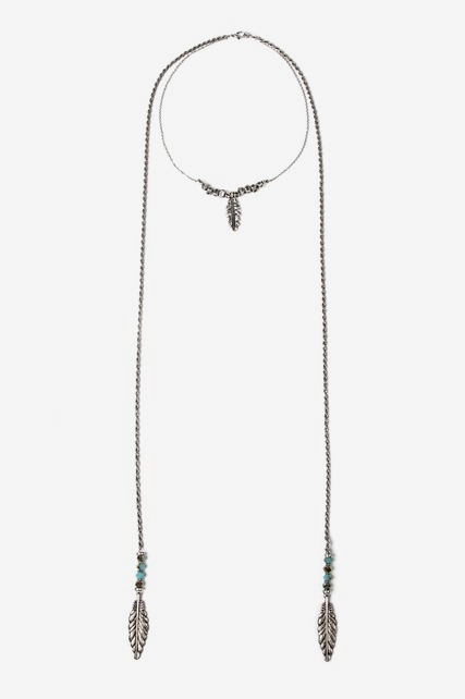 Feather Wrap Necklace