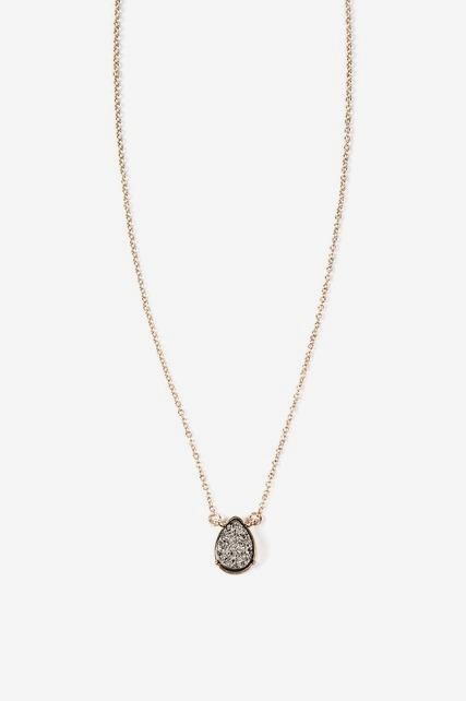 Druzy Drop Necklace