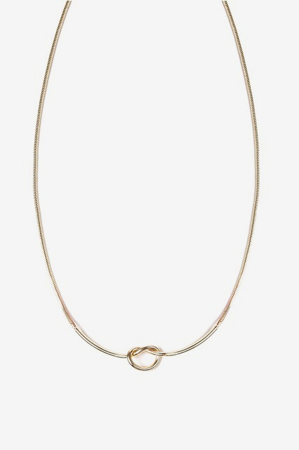 Knotted Bar Necklace
