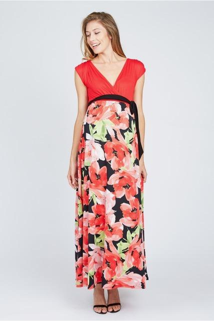 Floral Wrap Skirt Maxi