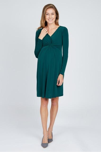 Long Sleeve Twisted Dress