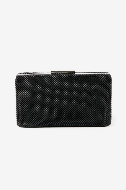 Matte Beaded Box Clutch