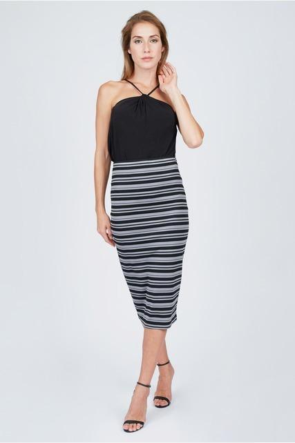 Variegated Striped Skirt