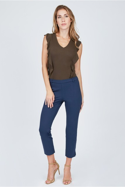 Cropped Split Trousers