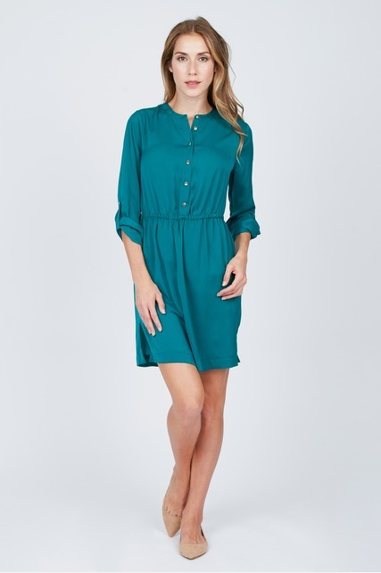 Silky Shirtdress
