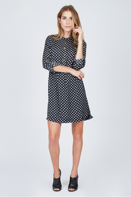 Diamond Print Shirt Dress