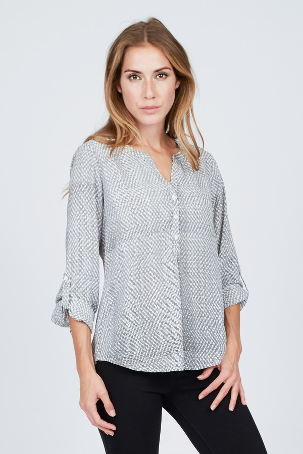Printed Popover Blouse