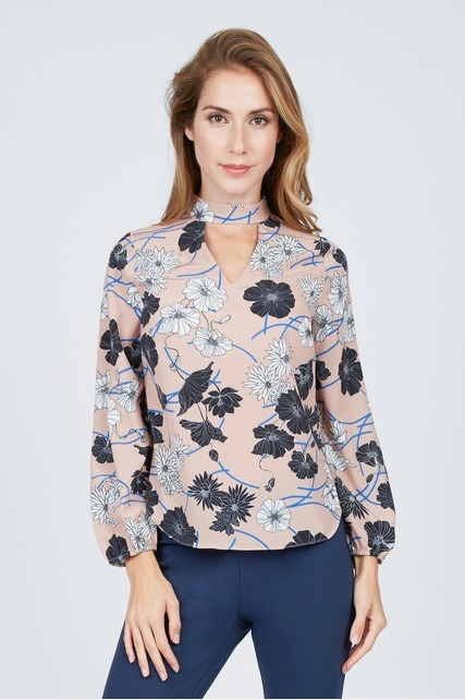 Sketched Floral Blouse